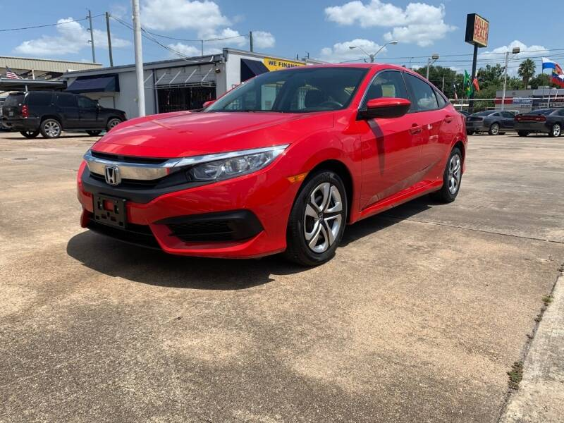 2018 Honda Civic for sale at Sam's Auto Sales in Houston TX