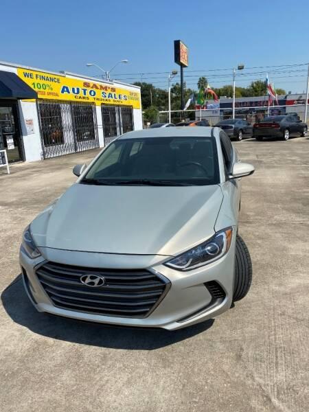 2017 Hyundai Elantra for sale at Sam's Auto Sales in Houston TX