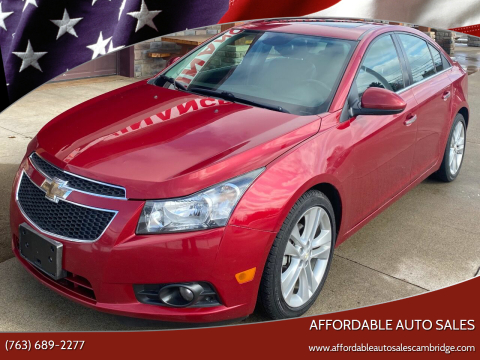 2014 Chevrolet Cruze for sale at Affordable Auto Sales in Cambridge MN