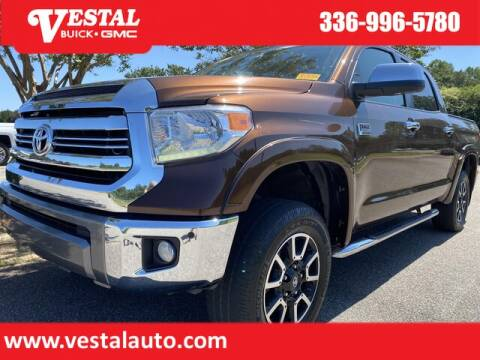 2017 Toyota Tundra for sale at VESTAL BUICK GMC in Kernersville NC