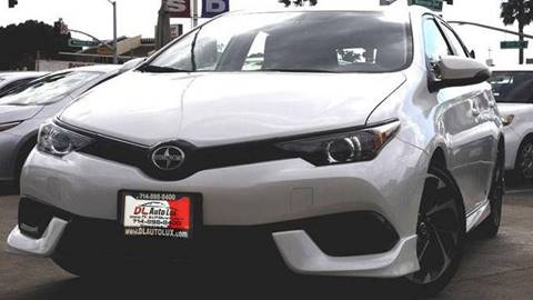 2016 Scion iM for sale at DL Auto Lux Inc. in Westminster CA
