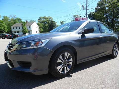 2013 Honda Accord for sale at L A Used Cars in Abington MA