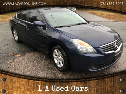 2009 Nissan Altima for sale at L A Used Cars in Abington MA