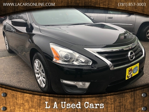 2015 Nissan Altima for sale at L A Used Cars in Abington MA