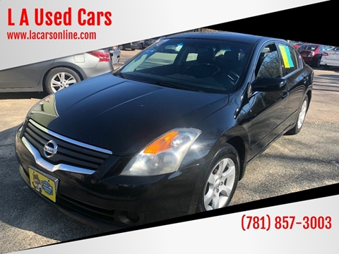 2008 Nissan Altima for sale at L A Used Cars in Abington MA