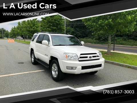 2005 Toyota 4Runner for sale at L A Used Cars in Abington MA
