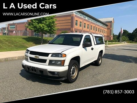 2010 Chevrolet Colorado for sale at L A Used Cars in Abington MA