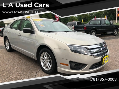2010 Ford Fusion for sale at L A Used Cars in Abington MA