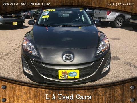 2011 Mazda MAZDA3 for sale at L A Used Cars in Abington MA