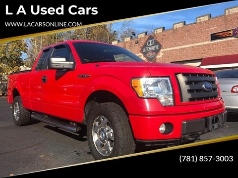 2010 Ford F-150 for sale at L A Used Cars in Abington MA
