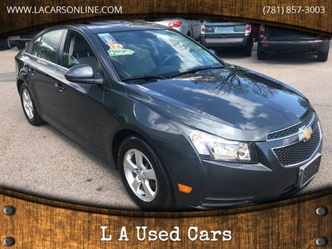 2013 Chevrolet Cruze for sale at L A Used Cars in Abington MA
