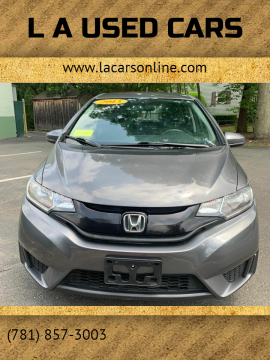 2015 Honda Fit for sale at L A Used Cars in Abington MA