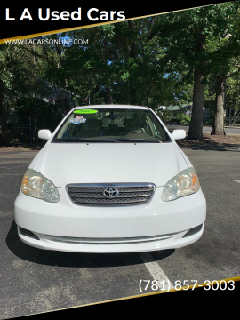 2007 Toyota Corolla for sale at L A Used Cars in Abington MA