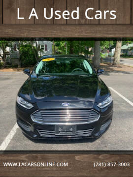 2014 Ford Fusion for sale at L A Used Cars in Abington MA