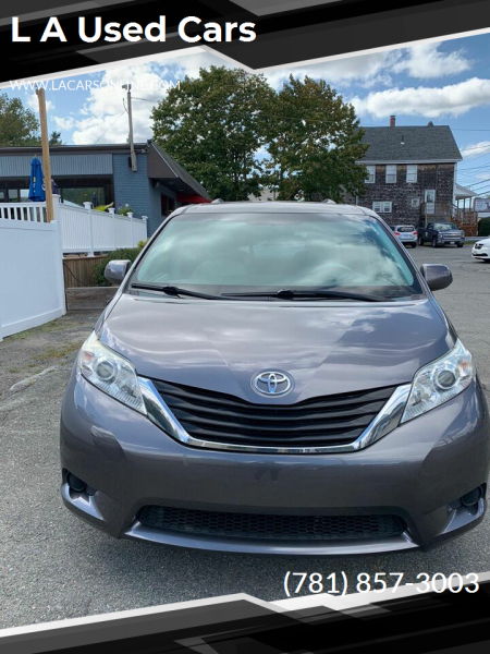 2012 Toyota Sienna for sale at L A Used Cars in Abington MA