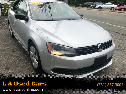 2011 Volkswagen Jetta for sale at L A Used Cars in Abington MA