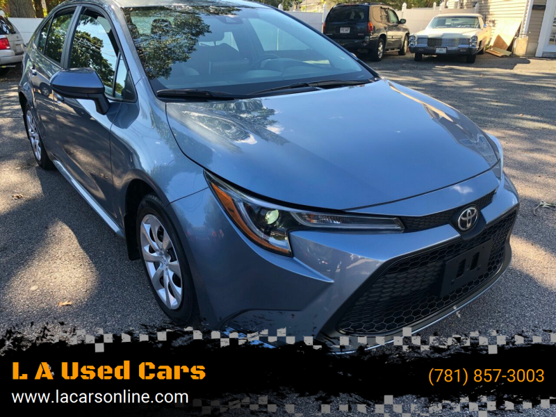 2020 Toyota Corolla for sale at L A Used Cars in Abington MA