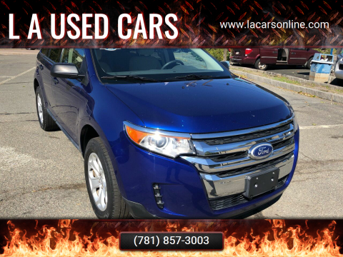 2014 Ford Edge for sale at L A Used Cars in Abington MA