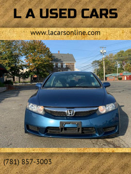 2009 Honda Civic for sale at L A Used Cars in Abington MA