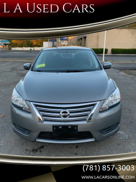 2013 Nissan Sentra for sale at L A Used Cars in Abington MA