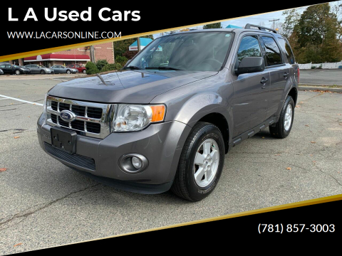 2010 Ford Escape for sale at L A Used Cars in Abington MA