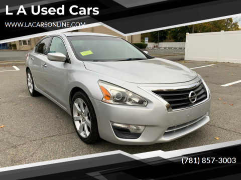 2013 Nissan Altima for sale at L A Used Cars in Abington MA
