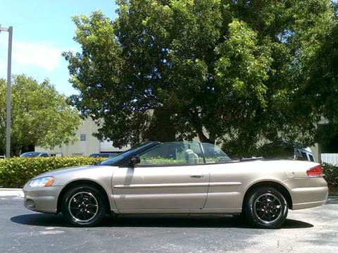 2002 Chrysler Sebring for sale at Love's Auto Group in Boynton Beach FL