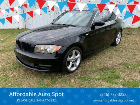 2009 BMW 1 Series for sale at Affordable Auto Spot in Houston TX