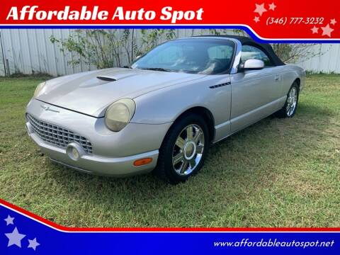 2004 Ford Thunderbird for sale at Affordable Auto Spot in Houston TX