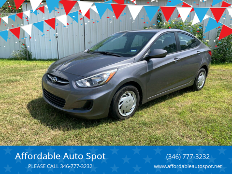 2016 Hyundai Accent for sale at Affordable Auto Spot in Houston TX