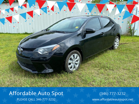 2016 Toyota Corolla for sale at Affordable Auto Spot in Houston TX