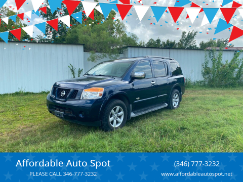 2008 Nissan Armada for sale at Affordable Auto Spot in Houston TX