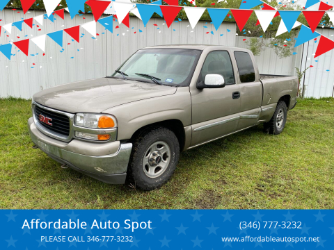 2001 GMC Sierra 1500 for sale at Affordable Auto Spot in Houston TX