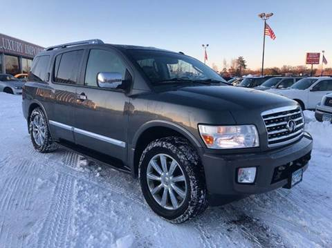 2008 Infiniti QX56 for sale at LUXURY IMPORTS AUTO SALES INC in North Branch MN