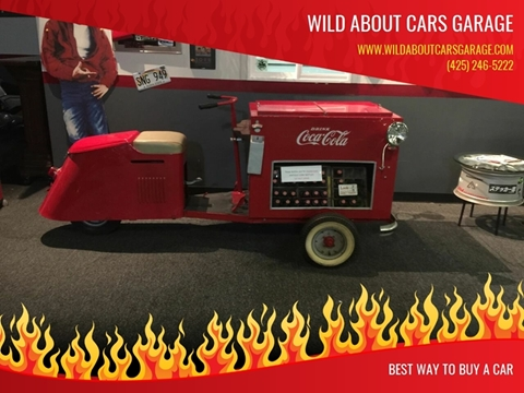 1947 Cushman Cart 3 wheeleer Coke a Cola branded for sale in Kirkland, WA