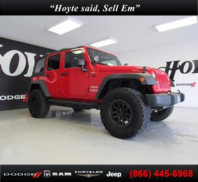 2012 Jeep Wrangler Unlimited for sale in Sherman TX