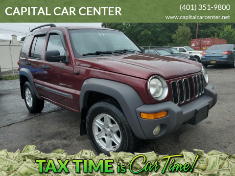2002 Jeep Liberty for sale at CAPITAL CAR CENTER in Providence RI