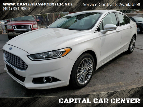 2013 Ford Fusion for sale at CAPITAL CAR CENTER in Providence RI