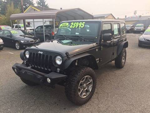 2016 Jeep Wrangler Unlimited for sale in Marysville, WA