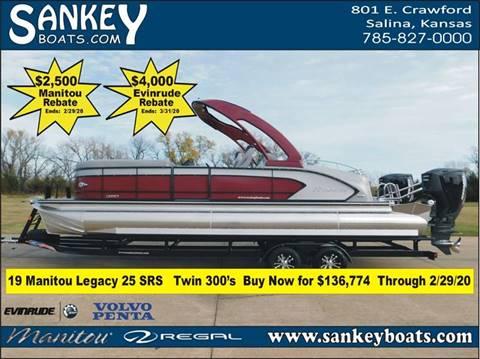 2019 Manitou Legacy 25 SRS Dual Motor SHP for sale at SankeyBoats.com in Salina KS
