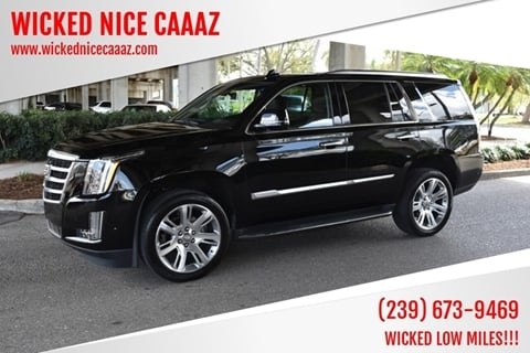 2018 Cadillac Escalade for sale at WICKED NICE CAAAZ in Cape Coral FL
