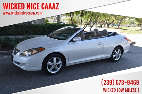 2005 Toyota Camry Solara for sale at WICKED NICE CAAAZ in Cape Coral FL