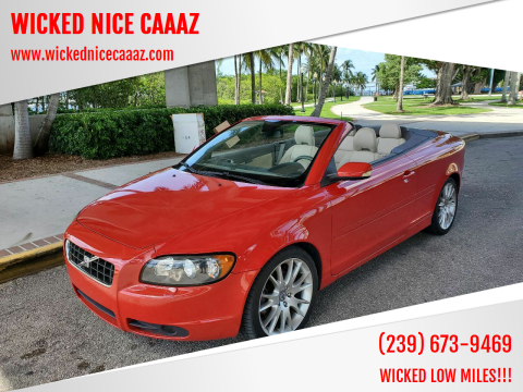 2007 Volvo C70 for sale at WICKED NICE CAAAZ in Cape Coral FL