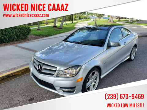 2012 Mercedes-Benz C-Class for sale at WICKED NICE CAAAZ in Cape Coral FL