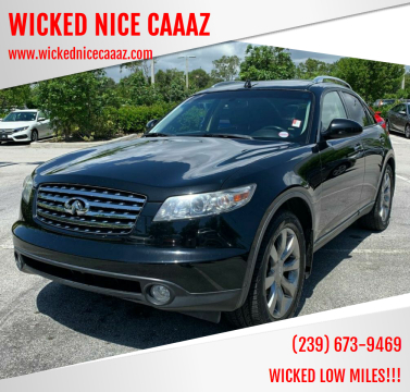 2004 Infiniti FX45 for sale at WICKED NICE CAAAZ in Cape Coral FL