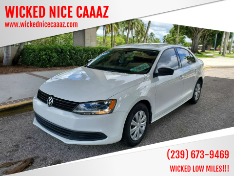 2013 Volkswagen Jetta for sale at WICKED NICE CAAAZ in Cape Coral FL