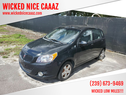 2009 Pontiac G3 for sale at WICKED NICE CAAAZ in Cape Coral FL