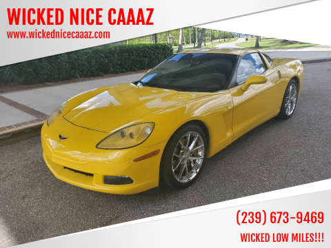 2008 Chevrolet Corvette for sale at WICKED NICE CAAAZ in Cape Coral FL