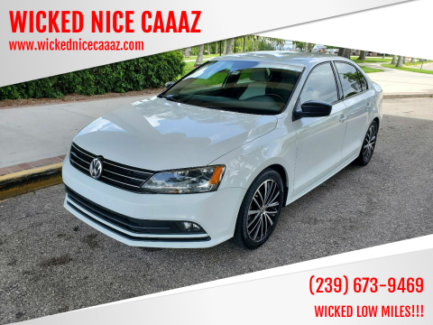 2016 Volkswagen Jetta for sale at WICKED NICE CAAAZ in Cape Coral FL