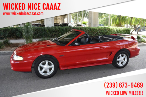 1996 Ford Mustang for sale at WICKED NICE CAAAZ in Cape Coral FL